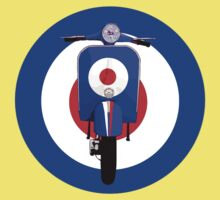 Retro Mod Target with sixties scooter by Auslandesign