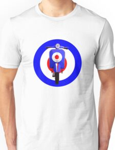 Retro Mod Target with sixties scooter Unisex T-Shirt