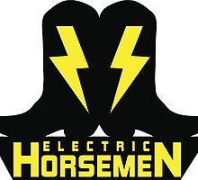 Electric Horsemen (Vintage 2) White Background by wesg1261