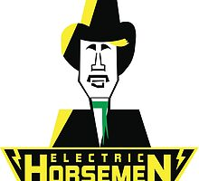 Electric Horsemen (Vintage 3) White Background by wesg1261