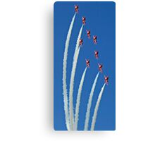 The Red Arrows on display Canvas Print