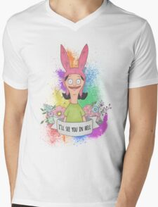 Louise Belcher Mens V-Neck T-Shirt