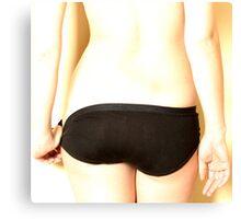 black undies #1 Canvas Print