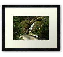 Winter Waterfall Framed Print