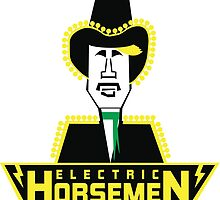 Electric Horsemen (Vintage 4) White Background by wesg1261
