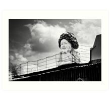 They Keep Her Behind the Wire Art Print