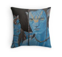 The blue people Throw Pillow