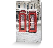 snow red Greeting Card