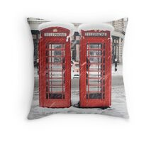 snow red Throw Pillow