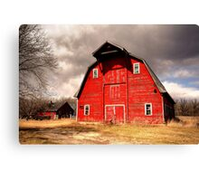 Ye Old Red Barn Canvas Print