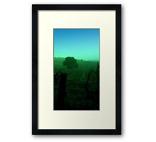A dull day  Framed Print
