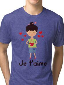 paris girl Tri-blend T-Shirt