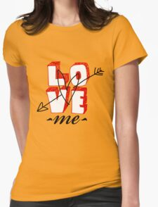 love word Womens Fitted T-Shirt