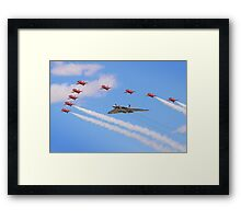 Final Vulcan Flight with The Red Arrows -  9 Framed Print
