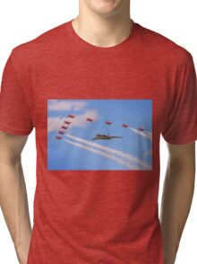 Final Vulcan Flight with The Red Arrows -  9 Tri-blend T-Shirt