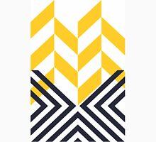 Modern Geometric Pattern Yellow Black Unisex T-Shirt