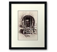Romany Caravan Framed Print