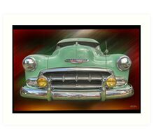 Child of the 50's - 1952 Chevrolet Deluxe Art Print