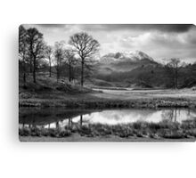 Wetherlam and the River Brathay. Canvas Print
