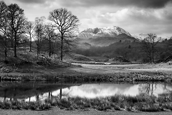 Wetherlam and the River Brathay. by Dave Lawrance