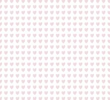 Hand Drawn Love Hearts Pink by Illuzstrated