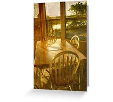 Beach Cottage Morning Greeting Card