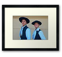 Traditional Argentinian gaucho clothing Framed Print
