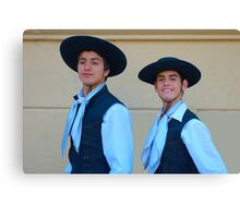 Traditional Argentinian gaucho clothing Canvas Print