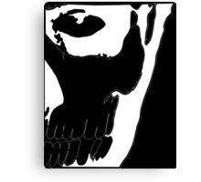 Rick Genest - White on Black Canvas Print