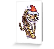 Tiger Christmas Greeting Card