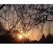 Sunset over Bleheim Palace Photographic Print