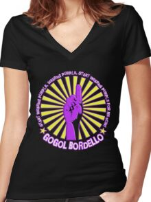 Gogol Bordello - Start Wearing Purple Women's Fitted V-Neck T-Shirt