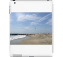Helicopter Flying Over Watch Hill iPad Case/Skin
