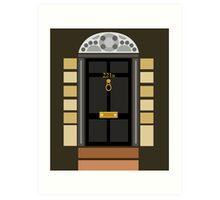 221b Baker Street (Door) Art Print