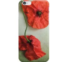 Wilted Poppies  iPhone Case/Skin