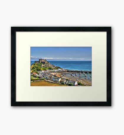 """Views over Gorey Bay, Jersey"" Framed Print"
