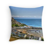 """""""Views over Gorey Bay, Jersey"""" Throw Pillow"""