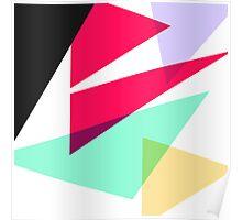 Contemporary Geometric Triangles 4 Poster