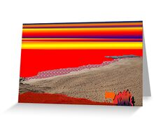 The Red Sea Sunset Greeting Card