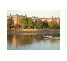 Boat on the River Thames Art Print