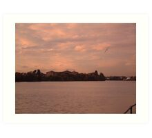 River Thames Sunset Art Print