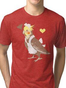 Cockatiel Maid Tri-blend T-Shirt