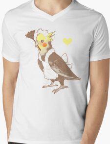 Cockatiel Maid Mens V-Neck T-Shirt