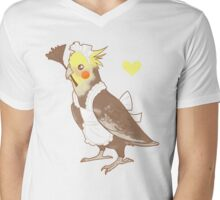 Cockatiel Maid Mens V-Neck T-Shirt