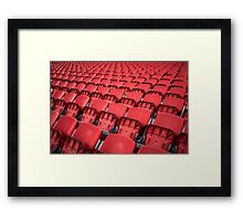 Red Seats Framed Print