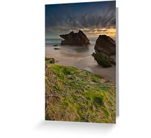Two Rocks, Green Moss and the Blue hour !! Greeting Card