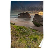 Two Rocks, Green Moss and the Blue hour !! Poster