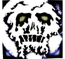 Melting skull number 2 Photographic Print