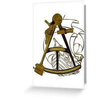 Measuring The Territory At Sea Greeting Card