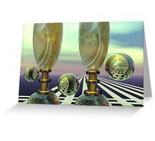Romantic Champain glasses Greeting Card